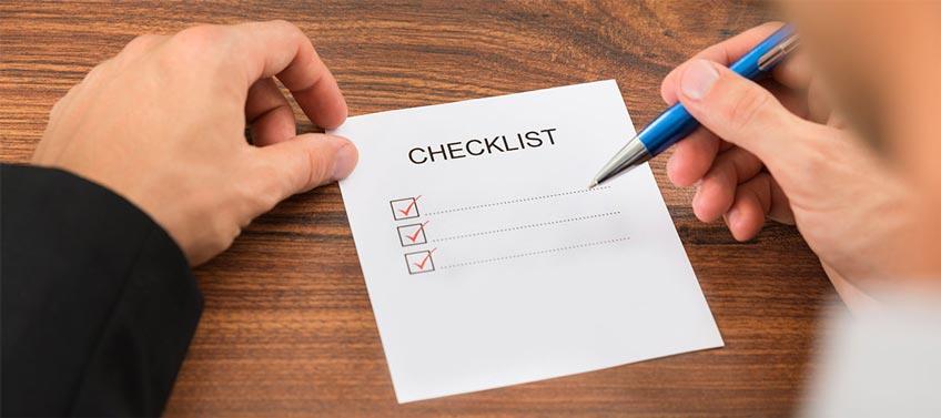 3 Points Checklist